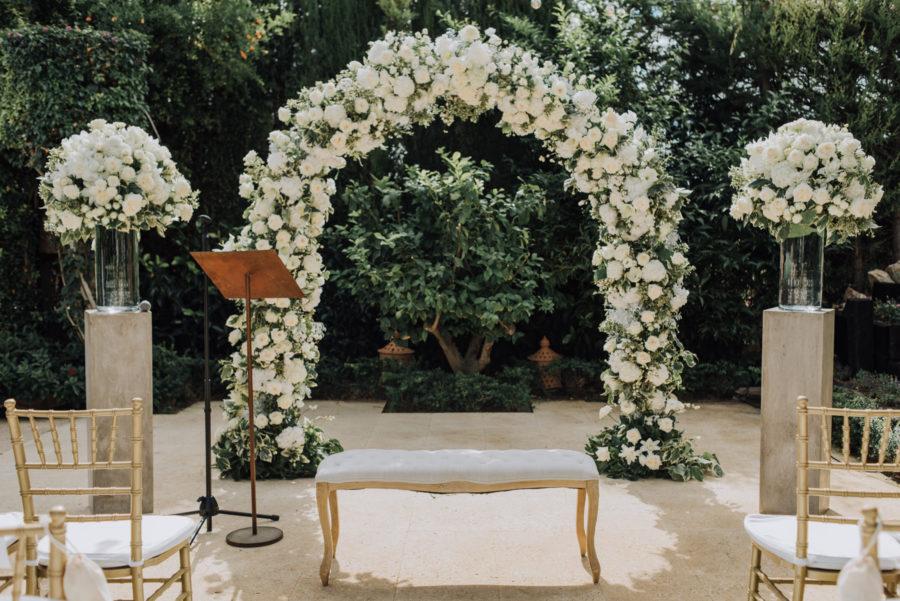 La boda de Caroline y Christian: clásica y elegante